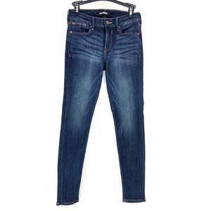 Express Mid Rise Medium Wash Jean Leggings